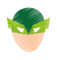 super hero with mask character vector image