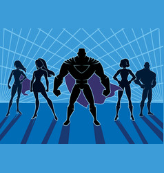 superhero team 2 vector image