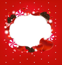 Sweet Love Heart Frame vector image