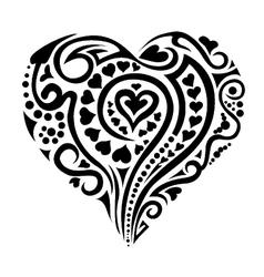 Tatoo heart vector