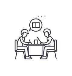 teamwork line icon concept teamwork linear vector image