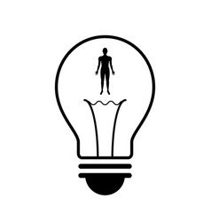 technology future human body light bulb vector image