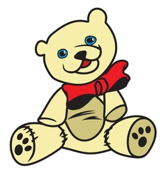 teddy bear1 resize vector image vector image