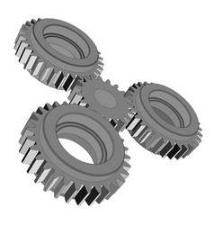 three-dimensional toothed wheels vector image