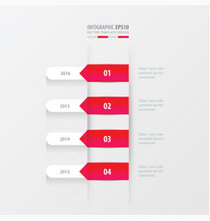 timeline template pink gradient color vector image