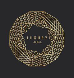 vintage luxury golgen ornament vector image