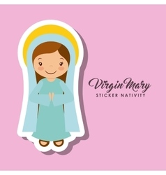 Virgen mary sticker vector