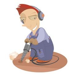 worker vector image