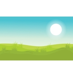 Background hill beauty landscape vector image vector image