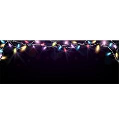 Christmas light banner vector