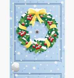 Door wreath vector