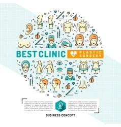 Medical Card flyer plastic surgery clinics Flat vector image