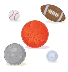 Set of sports balls isolated on white background vector