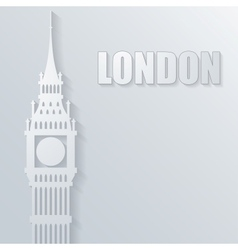 with big ben icon vector image vector image