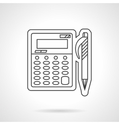 Accounting flat line design icon vector image