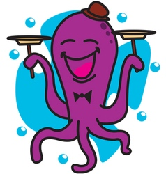 Circus Octopus vector image vector image