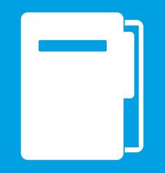 file folder icon white vector image