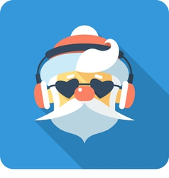 hipster Santa Claus Face icon flat design vector image vector image