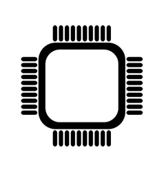 simple cpu icon vector image