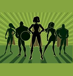 superhero team 3 vector image vector image