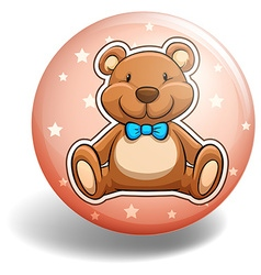 Bear badge vector image vector image