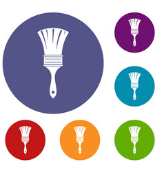brush icons set vector image
