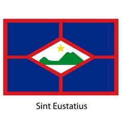 Flag of the country sint eustatius vector image vector image