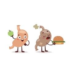 Healthy and unhealthy food concept vector image