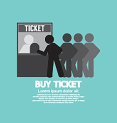 People Buy Ticket At Service Booth vector image vector image