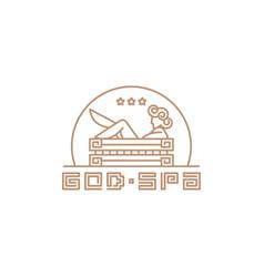 Spa logo template vector