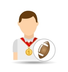 athlete medal football icon graphic vector image vector image