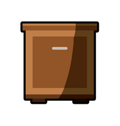 cabinet table furniture shadow vector image vector image