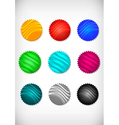 Colorful sticker collection vector image vector image
