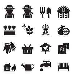 farming icons vector image vector image