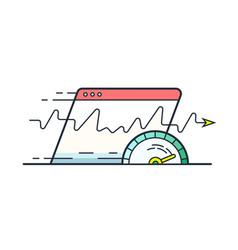 internet speed vector image vector image