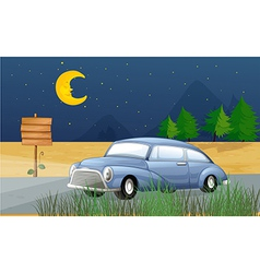 Midnight Car Ride vector image vector image