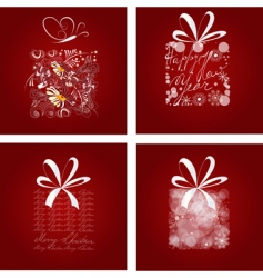 set of Christmas card vector image vector image