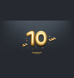 10th year anniversary background vector