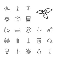 22 environment icons vector