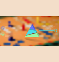 3d infographic template with embossed triangle vector image