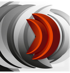3d wave design vector image