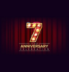 7 years anniversary banner seven seventh vector