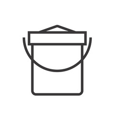 a sand bucket vector image