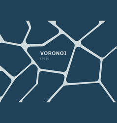 abstract dark blue voronoi diagram background vector image