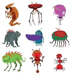 Aliens monsters vector