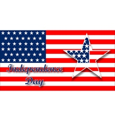 American flag design for celebration an vector image