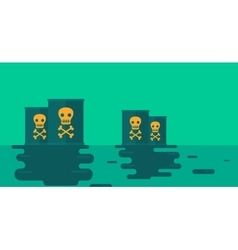 Background of polluted water with radioactive vector