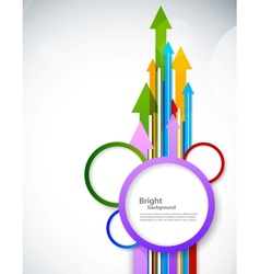 Background with arrow and circles vector image