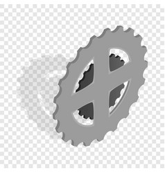 Bike chain star isometric icon vector
