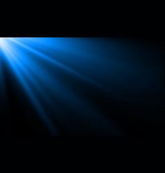 blue light ray or sun beam background abstract vector image